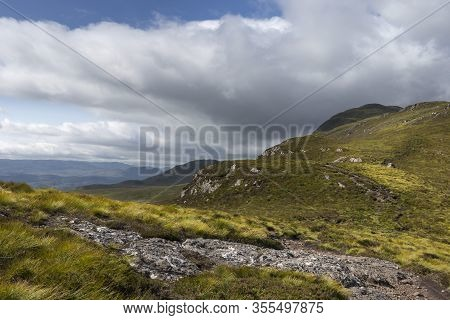 Panoramic View Of Loch Ness From Meall Fuar-mhonaidh