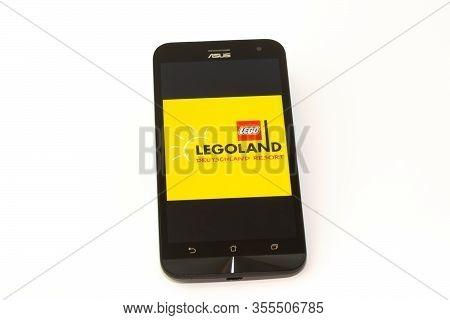 Kouvola, Finland - 23 January 2020: Legoland Deutschland Resort App Logo On The Screen Of Smartphone
