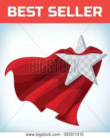 Star Concept. Star In Cape. Super Cloak. Super Star. Power Icon. Leadership Sign. Superhero Template
