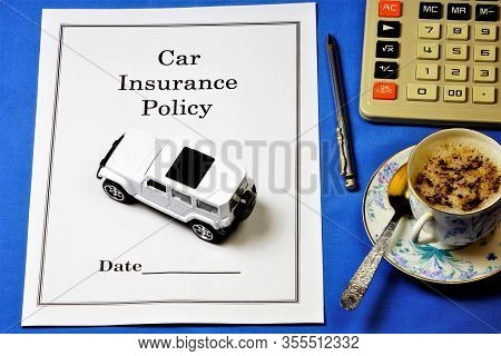 Car Insurance Policy-transfer Of Risk By Purchasing An Insurance Policy From An Insurance Company. P
