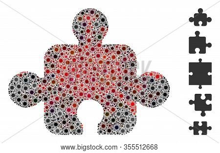 Coronavirus Mosaic Component Icon. Mosaic Vector Is Composed With Component Icon And With Randomized