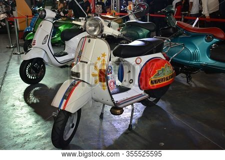 Pasig, Ph - Mar. 7: Vespa Motorcycle At 2nd Ride Ph On March 7, 2020 In Pasig, Philippines. Ride Ph