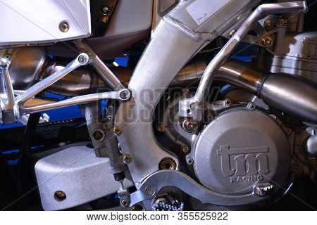 Pasig, Ph - Mar. 7: Tm Racing Motorcycle Engine At 2nd Ride Ph On March 7, 2020 In Pasig, Philippine