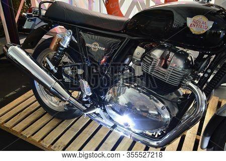 Pasig, Ph - Mar. 7: Royal Enfield Interceptor 650 Motorcycle At 2nd Ride Ph On March 7, 2020 In Pasi