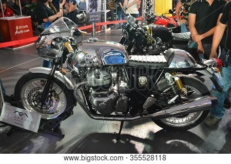 Pasig, Ph - Mar. 7: Royal Enfield Continental Gt 650 Motorcycle At 2nd Ride Ph On March 7, 2020 In P