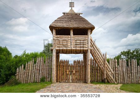 Ancient trading faktory village in Pruszcz Gdanski, Poland