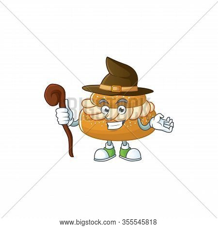 Sweet And Tricky Witch Semla Cartoon Character