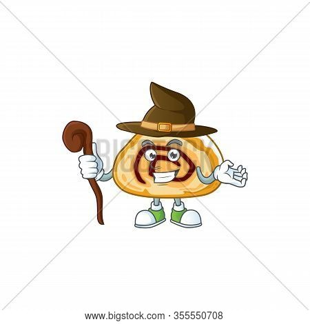 Sweet And Tricky Witch Swiss Roll Cartoon Character