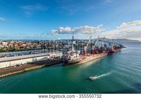 Fort-de-france, Martinique - December 21, 2018: Port Infrastructure In Fort De France, The Capital O