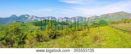 Beautiful Panorama Of Gorges In Trascau Mountains, Romania. Alba Country Apuseni Natural Park In Spr