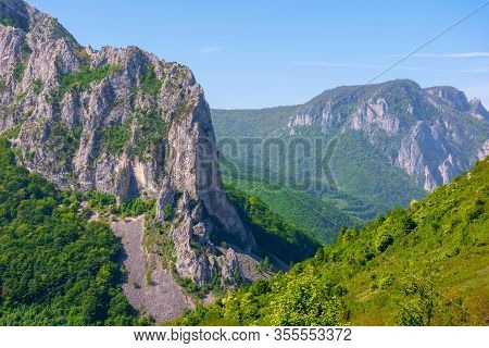 Beautiful Landscape Of Gorges In Trascau Mountains, Romania. Alba Country Apuseni Natural Park In Sp