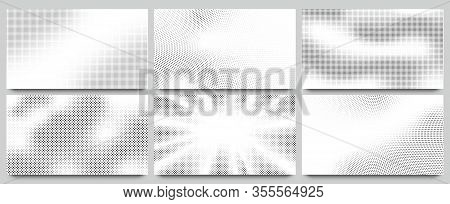 Abstract Halftone Background. Wavy Dots Pattern, Twisted Dotted Pattern And Pop Art Or Comic Texture