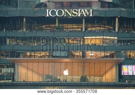 Bangkok, Thailand - 30 Jan, 2019: Exterior View Of Icon Siam At River Side. Icon Siam Is The New Sho