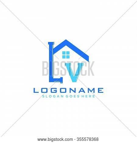 Letter Lv  Logo Icon Design Template Elements