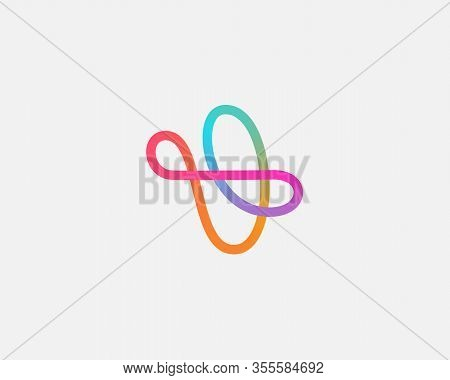 Abstract Linear Motion Logo Icon Design Modern Minimal Style Illustration. Aircraft Vector Emblem Si