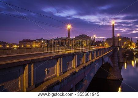 Manes Bridge Is A Road And Tramway Bridge Over The Vltava River In Prague, Czech Republic. The Bridg