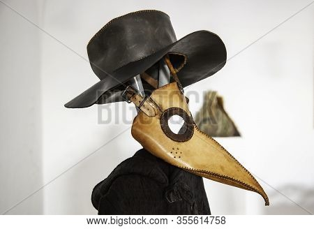 Plague Mask, Detail Of Human History, Pandemic And Mortality