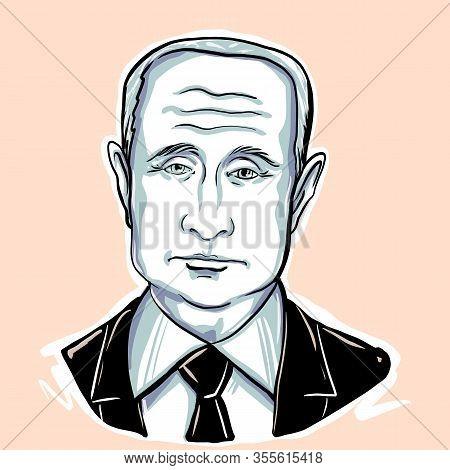 Kaliningrad, Russia, January 27 2020. President Of The Russian Federation Vladimir Putin Sketch Port