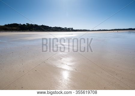 Large Sandy Beach In The Town Of
