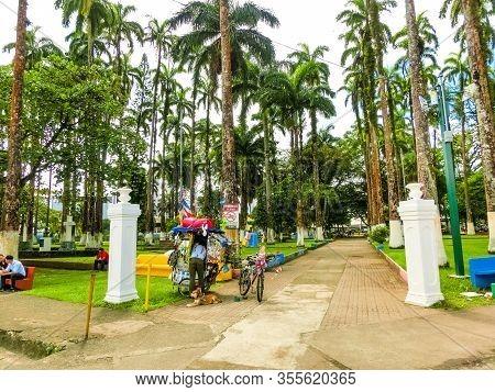 Puerto Limon, Costa Rica - December 8, 2019: Parque Vargas, City Park In Puerto Limon, Costa Rica