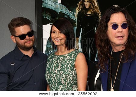 LOS ANGELES - AUG 1:  Jack Osbourne, his wife, and Ozzy Osbourne arrives at the