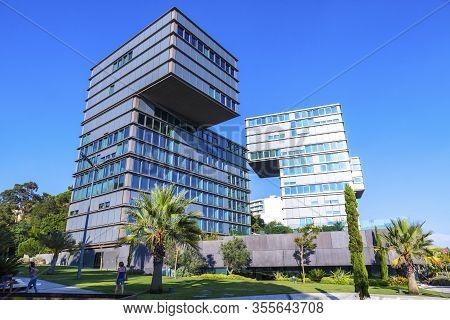 Cascais, Portugal - Sep. 28, 2015: Estoril Sol Residence (tetris Building) - Modern Apartment Buidin