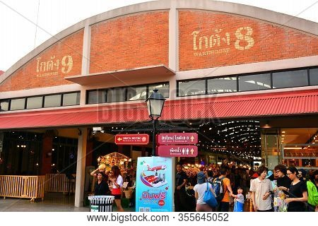 Bangkok, Th - Dec 12: Warehouse Facade At Asiatique The Riverfront On December 12, 2016 In Bangkok,