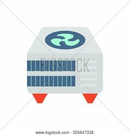 Air Compressor Icon Part Of Hvac System.