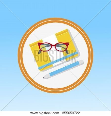 School, Office Stationery Cartoon Vector Icon. Distance Education, Online Learning Flat Illustration