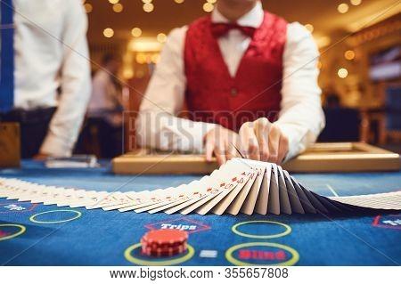 Casino Betting Gambling Game Poker Roulette Concept.