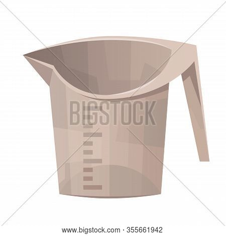 Kitchen Measuring Cup Isolated On White Background Vector