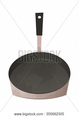 Frying Pan Isolated Kitchen Utensils For Cooking Food Vector