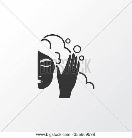 Hair Washing Icon Symbol. Premium Quality Isolated Shower Element In Trendy Style.