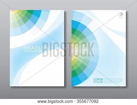 Annual Report Brochure Flyer, Book Cover, Design Template.