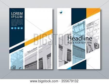 Annual Report Brochure Flyer , Book Cover, Design Template.