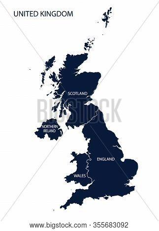 Map Of Uk, United Kingdom, England, Brexit