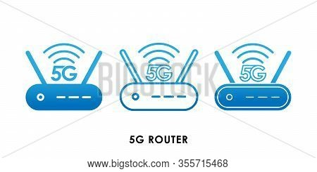 5G, 5G Router Speed icon, 5G vector, 5G icon vector, 5G logo, 5G symbol, 5G sign, 5G icon design. 5G Router icon vector illustration. 5G connection vector template design. 5G network technology vector illustration for web, logo, app, UI.