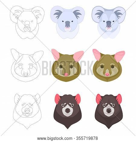 Icons With Three Austrian Animals In Three Variations