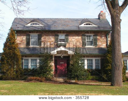 Attractive Two Storey Stone House