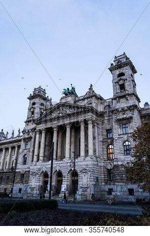 Budapest, Hungary - November 25, 2019: The National Museum Of Ethnography.