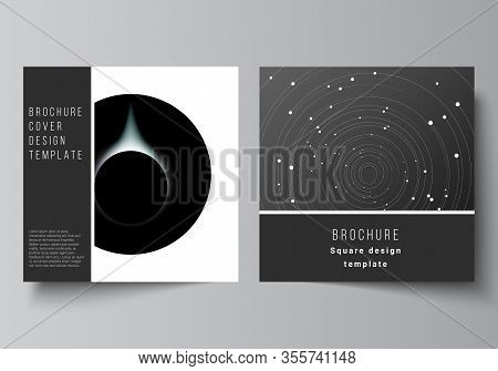 Vector Layout Of Two Square Format Covers Design Templates For Brochure, Flyer, Magazine, Cover Desi