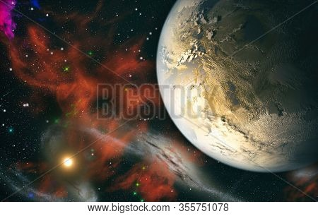 Deep Space Many Light Years Far From Planet Earth. Elements Of This Image Furnished By Nasa.