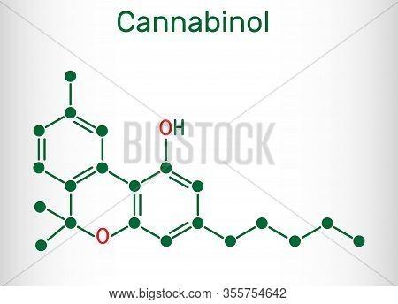 Cannabinol, Cbn Molecule. Weak Psychoactive Cannabinoid, Is A Metabolite Of Tetrahydrocannabinol. St