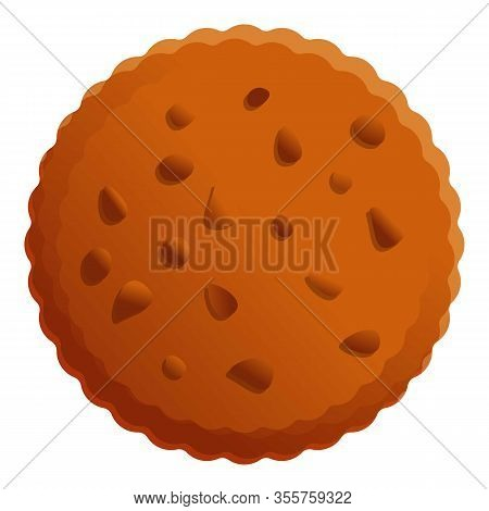 Nuts Cookie Icon. Cartoon Of Nuts Cookie Vector Icon For Web Design Isolated On White Background