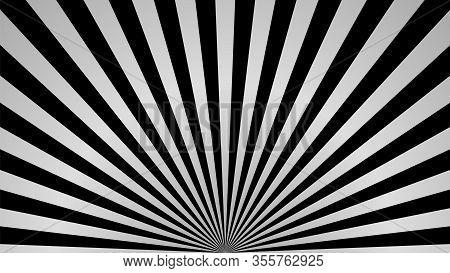 Sun Rays Background. Gray Radiate Sun Beam, Burst Effect. Sunbeam Light Flash Boom. Template Poster