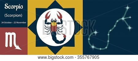 The Zodiac Sign Scorpion Or Scorpio In A Humorous Funny Style