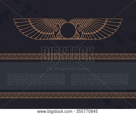 Vector Design Template Egyptian Fertility Goddess Isis Isolated On The Hand-drawn Background From Eg