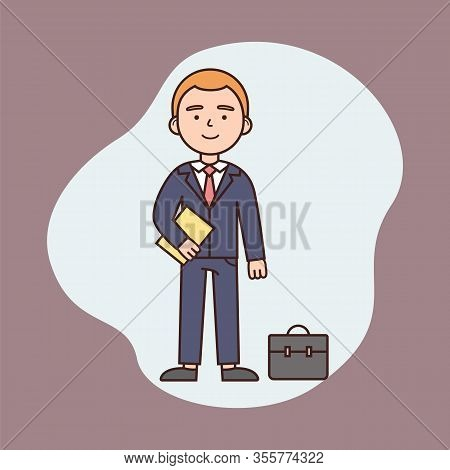 Businessman Working Day Concept, Successful Achievement, Business And Finance. Self Confident Busine