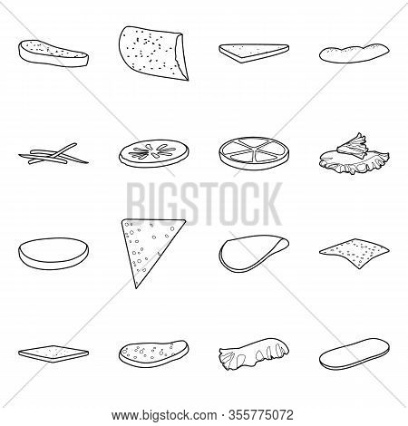 Vector Illustration Of Fastfood And Ingredient Symbol. Set Of Fastfood And Cuisine Stock Vector Illu