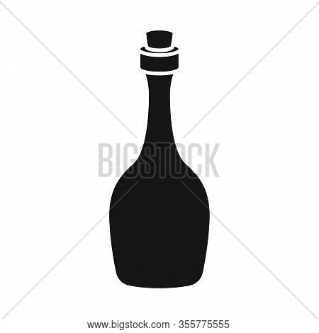 Vector Design Of Rum And Bottle Sign. Web Element Of Rum And Stopper Stock Symbol For Web.